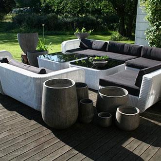 Utemöbler lounge vit